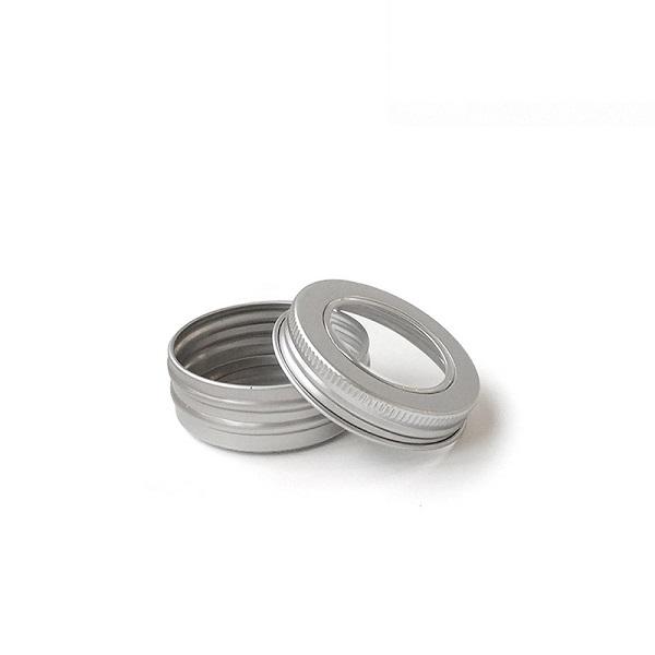 1 oz tins with pet window screw lid