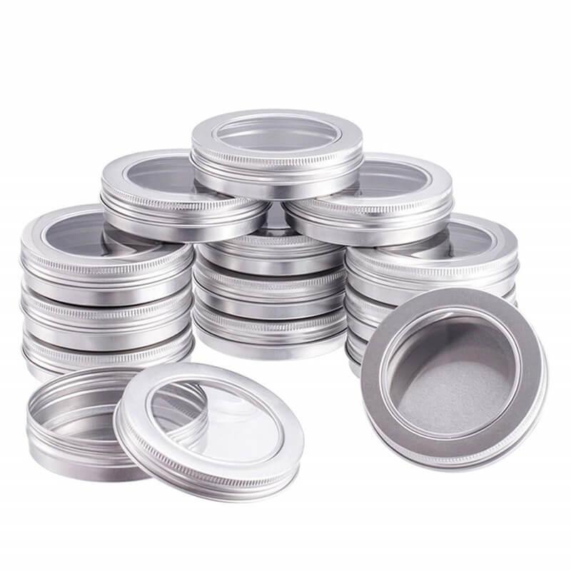 aluminum tins with window