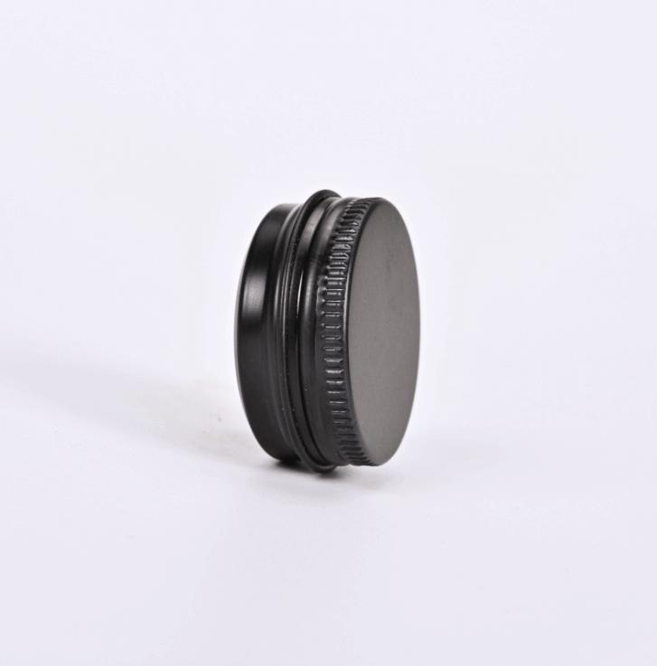 black screw lid tin