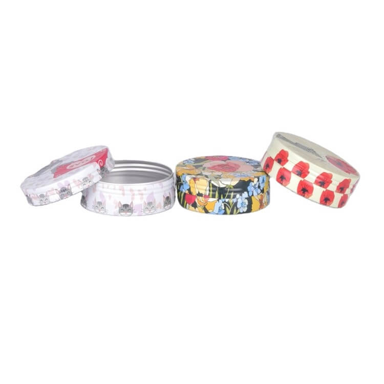 decorative screw lid tins