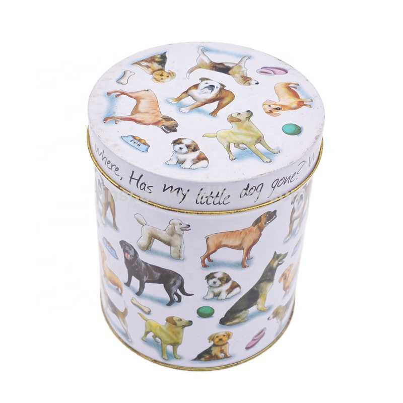 dog food storage tin container