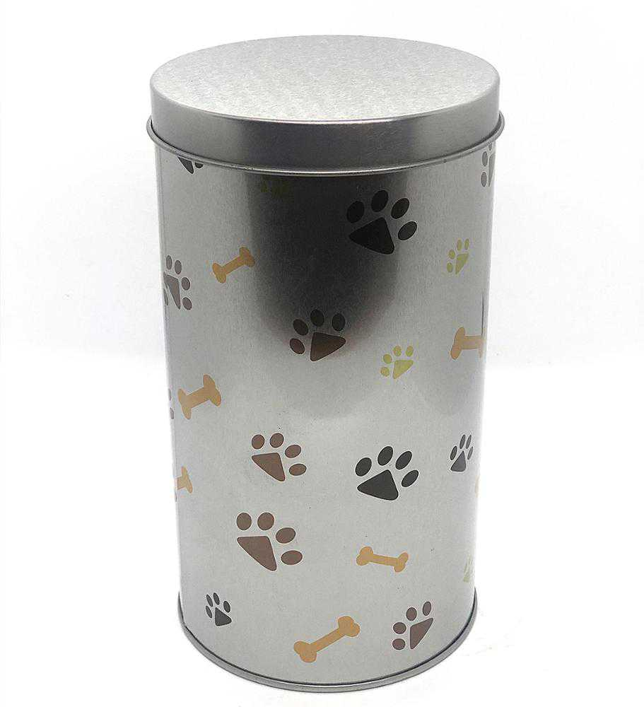 dog food tin container