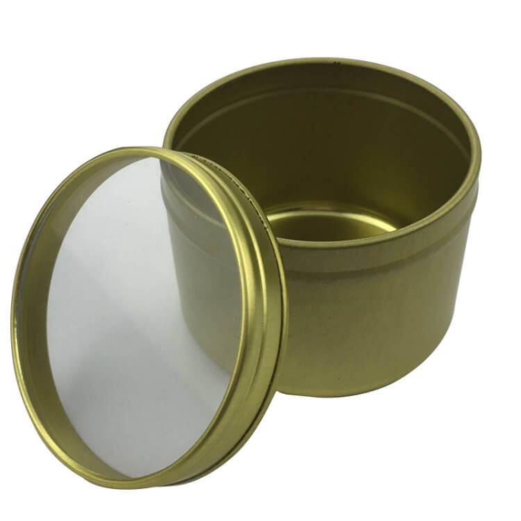 gold window lid tin