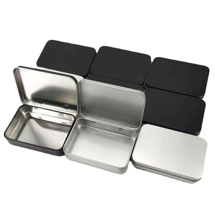 rectangular hinged lid tins