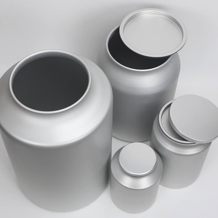 large sealed tins