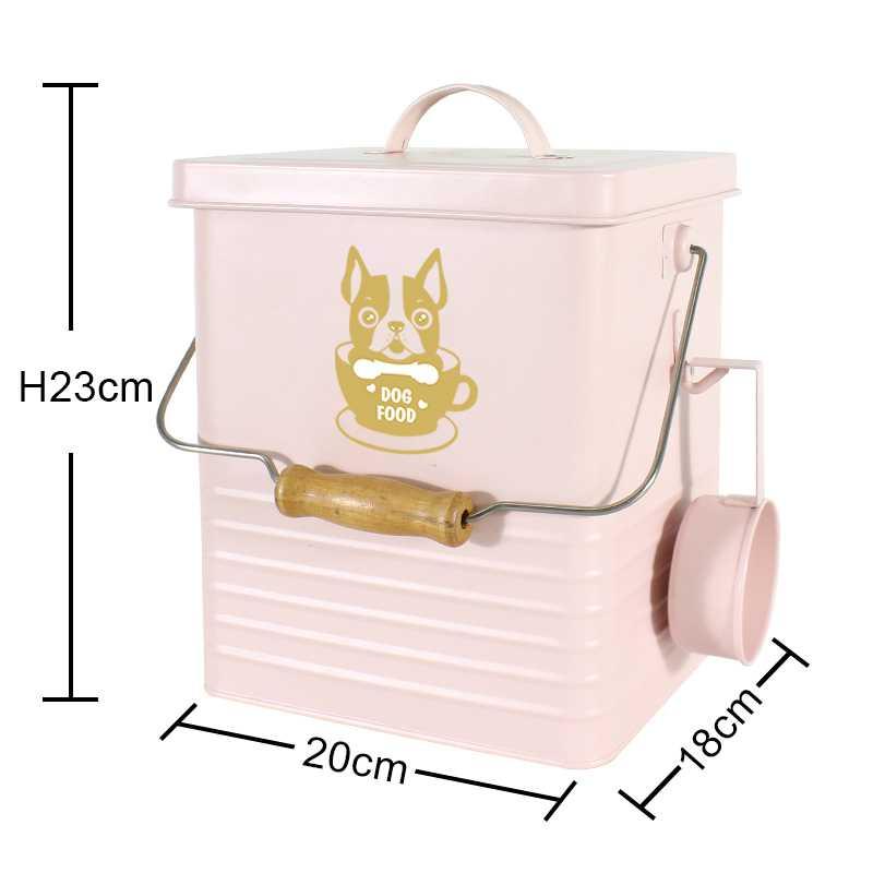 rectangular dog food tin