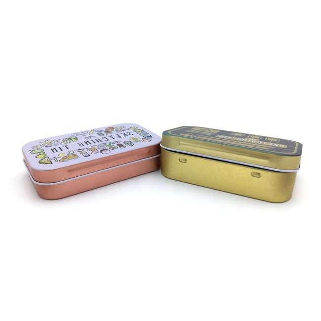 rectangular hinged lid tin
