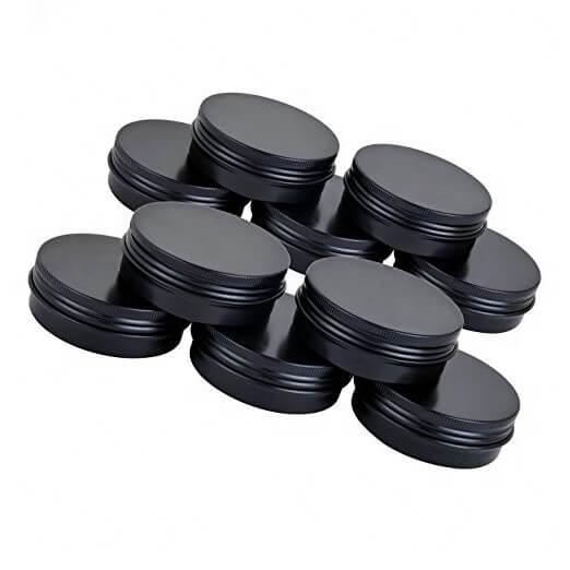 screw lid black tins