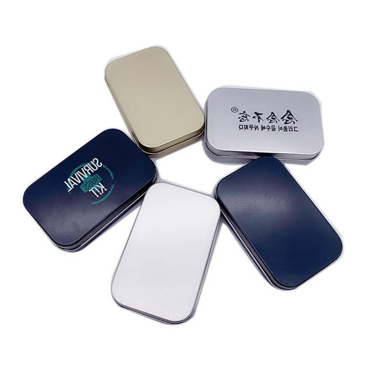 slip lid rectangular tin containers