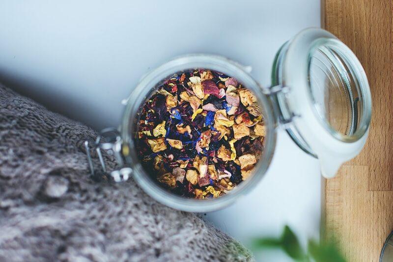 window lid tea tins