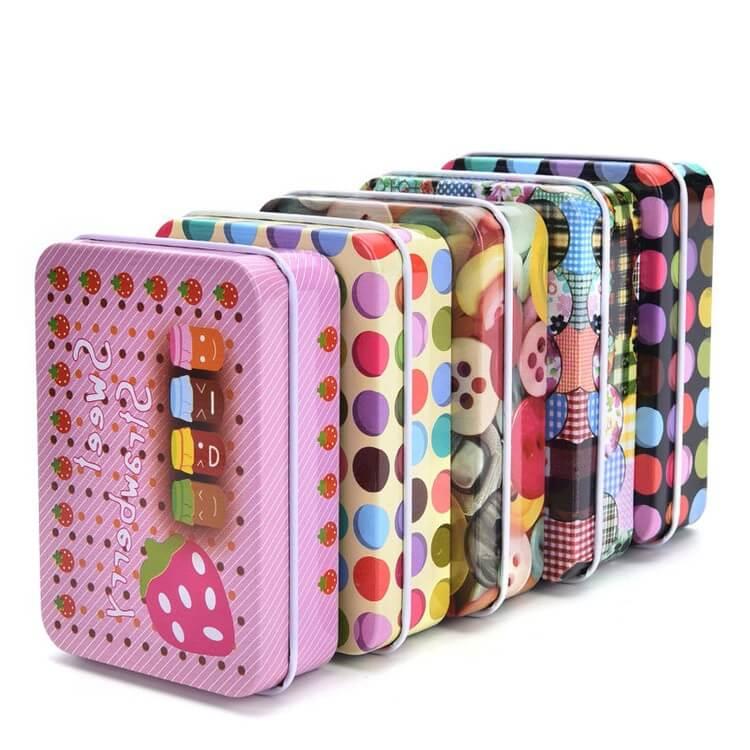 fruit candy rectangular tin