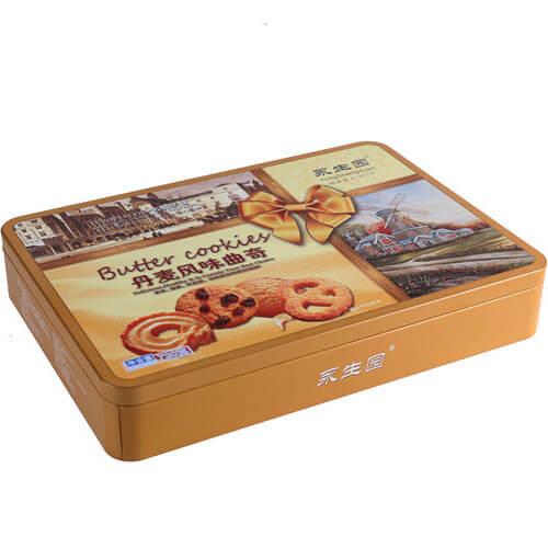cookie rectangular tin box