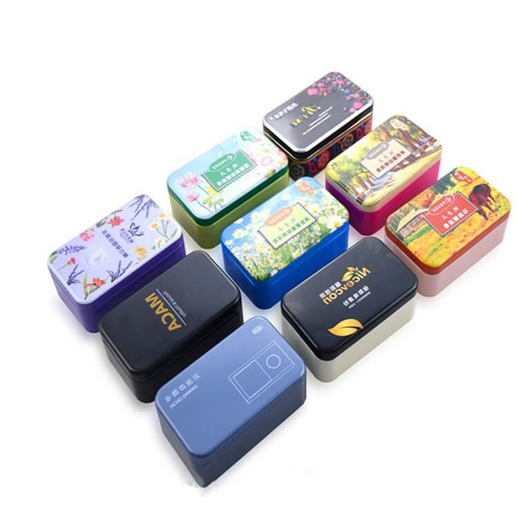 decorative rectangular tins
