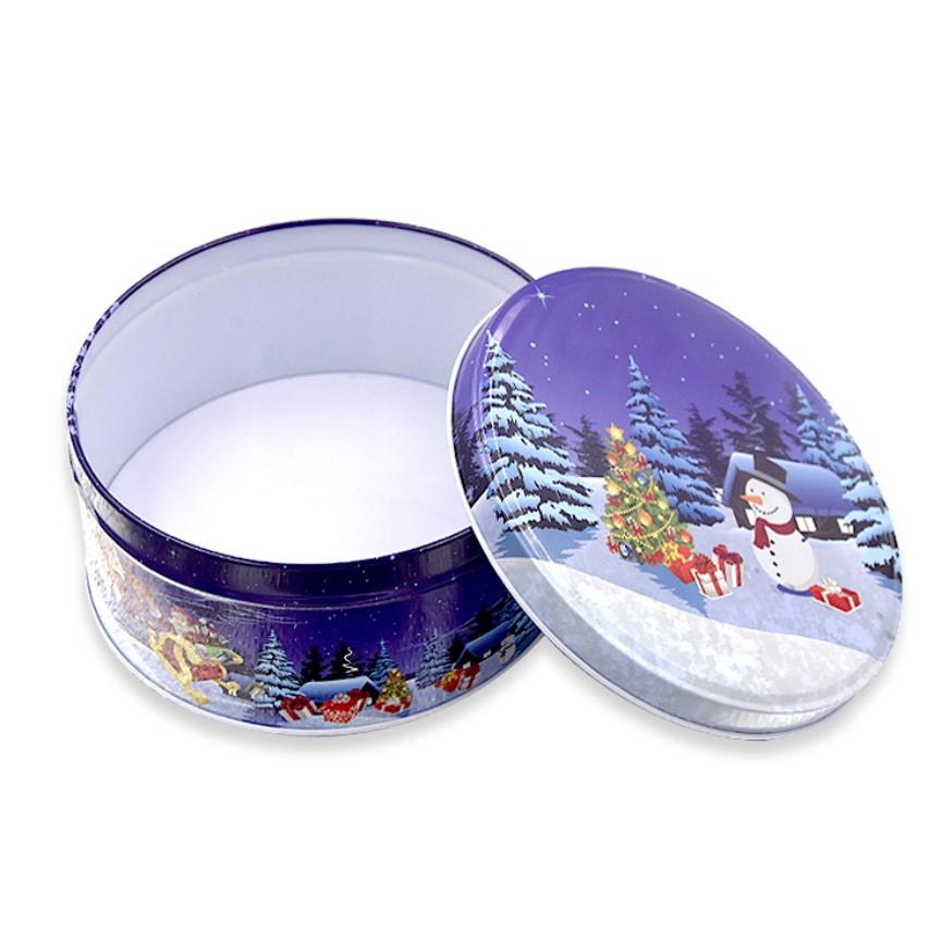 decorative slipcover tin container