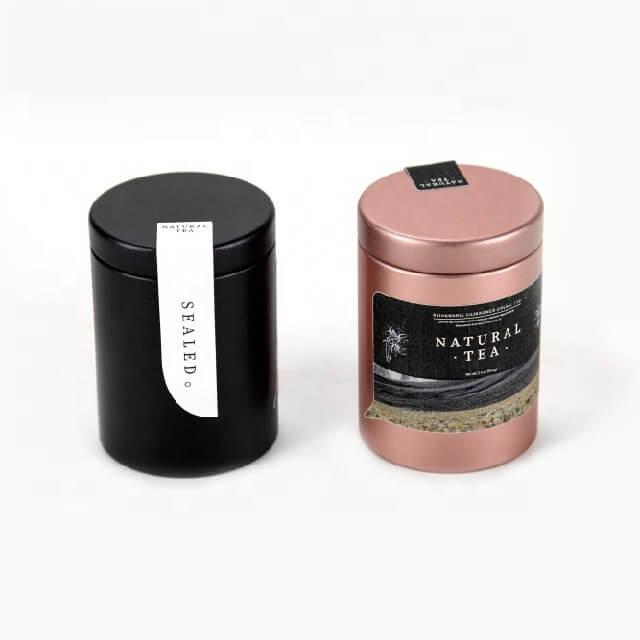 natural tea tin
