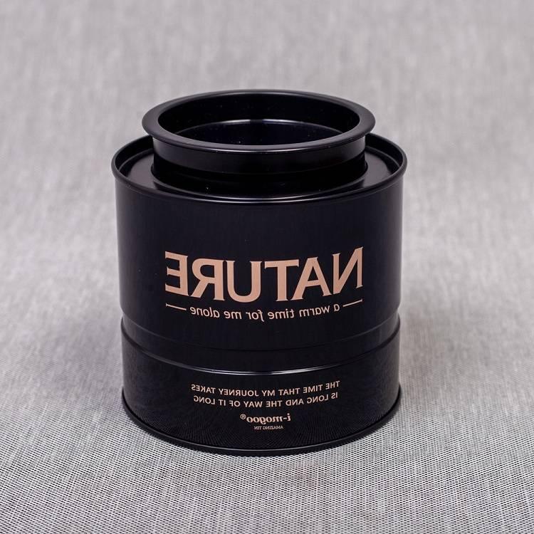 nature black tea tin container