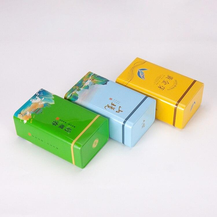rectangular tea tins